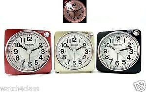 [Seiko]Bedside beep alarm clock Snooze Sweep Despertador+Free Ship~QHE118R/G/K