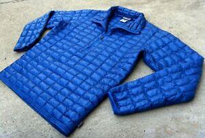Patagonia Ultralight Down Shirt Men's Sz M Blue Trekking Hiking jacket