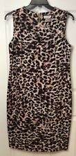 Calvin Klein Womans Plus Size 16W Animal Print Dress Scuba Sheath Sleeveless NEW