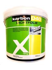 Karbon D40  wasserdicht Acyrlat Flüssigfolie Dichfolie Innen Grau 19 kg