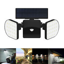 Doppel Solarstrahler mit Bewegungsmelder Außen Lampe LED Solar Leuchte Strahler