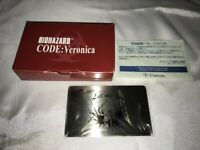 BIOHAZARD Resident Evil Code Veronica Metal Plate Promo JAPAN Dreamcast DC CIB 2