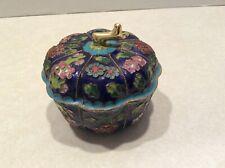 Vintage cloisonne enameled porcelain trinket box