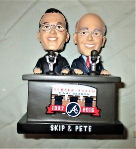 Skip and Pete Bobblehead NIB 2016 Atlanta Braves
