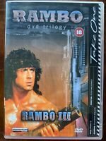 Rambo First Blood Part 3 DVD III 1988 Sylvester Stallone Action Movie Classic