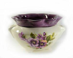 African Violet Pot self watering Choice of Motifs Medium Made to Order- 2 weeks