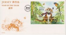 Unaddressed Jersey FDC First Day Cover 1998 Year of the Tiger Sheet 10% off 5