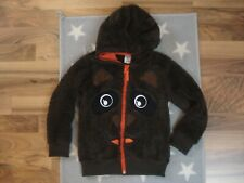 süße Bären Weste Teddyweste Teddy mit Öhrchen Größe 104 TOP braun orange Jacke