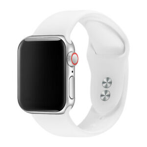 Replacement Silicone Strap Band For Apple Watch Series 7/6/5/4/3/2/1 Rubber Belt