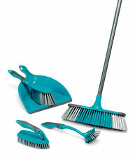 Beldray® LA024152TQ 5 PC Broom, Dustpan/Brush, Scrubbing Brush & Dish Brush Set
