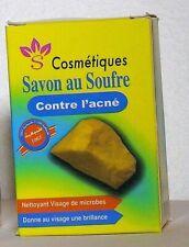 Savon au Soufre 100% Naturel Contre l'Acné Sulfur Soap, Jabón de Azufre