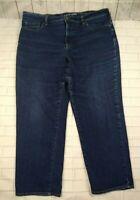 Lands' End Fit 3 Size 16W Straight Leg Blue Jeans Women's Plus Size Cotton Blend