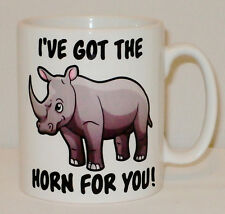 I've Got The Horn For You Mug Can Personalise Boy Girl Friend Rhino Rhinoceros
