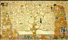 Tree of life Gustav Klimt Oil Painting on Canvas Classic Abstract HUGE 28x56""