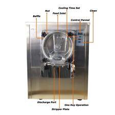 Hard Ice Cream Machine 1400w 10 20 Lh Hard Serve Ice Cream Machine Lcd Display