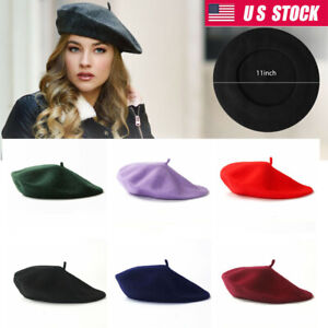 Women Classic French Style Wool Beret Warm Winter Hat Soft Beanie Cap Gift