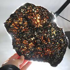 360g Slice meteorites, Rare slices of Kenyan Pallasite olive meteorite  E893