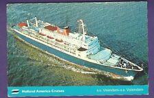 1973 SS Veendam - SS Volendam @ Sea Color Postcard - Holland America Line