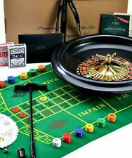 HUGE 40CM/16 INCH ROULETTE WHEEL WITH BALLS + GREEN ROULETTE SET WITH CARDS