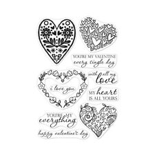 Hero Arts Poly Clear Cling Stamps All My Love Decorative Hearts