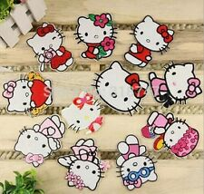 Lot 3 Pcs Hello Kitty Patches Random Cartoon Patch iron on Applique Badge Costum
