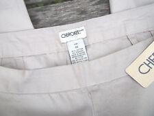 NEW! Cherokee Khaki Cropped Capri Pants Size 10 Cotton Waist 35