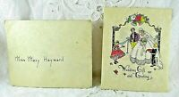 Vintage 1930's Wedding Greeting Card Parchment Paper Victorian Style Graphics