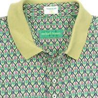 Vtg MICHAEL THOMAS Polo Golf Shirt Egyptian Nile Cotton Geometric Links Mens XXL
