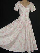 LAURA ASHLEY VINTAGE ENGLISH BLUSH ROSE SUMMER / TEA DRESS, 10/12