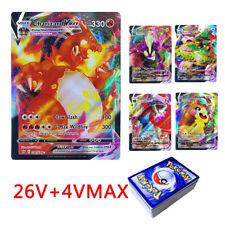30PCS Pokemon Cards V Vmax Shining Card English Sword Shield Booster Box Collect