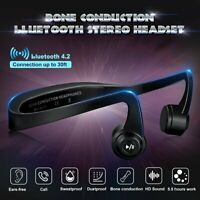 Wireless Headphones Bone Conduction Stereo Headset bluetooth 4.2 with Mic US