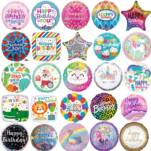 """18"""" Holographic Foil Balloon Helium Girls Boys Kids Birthday Party Decoration"""
