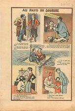 Humour Mendiant Bureau Billet de Chemin de Fer Contrôleur SNCF Radeau Mer 1935