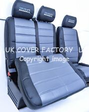 Mercedes Sprinter VW CRAFTER Van Seat Cover Grey Quilted Leatherette 120GYBK-BU