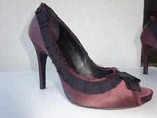 PEDRO GARCIA Damen Plateau Peep Toe Schuhe Pumps Samt Textil Spain Gr.37 Neuw