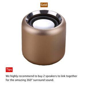 Mini Bluetooth Speaker With Loud Stereo - BT 5.0 True Wireless Stereo Speaker