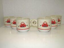 Vintage Noritake Epoch Holiday Joy Christmas Doll Mug Cups Set Of 6 Heavy