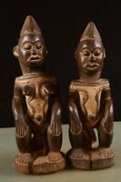 8072 Afrikanische Alte Igbo Ehe Paar Figur Nigeria Afrika