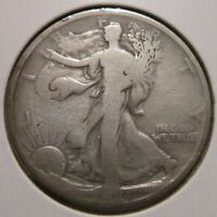 1921-P WALKING LIBERTY HALF DOLLAR RARE KEY DATE US SILVER COIN