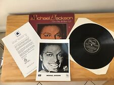 Michael Jackson ‎– One Day In Your Life LP        1981 With Letter + Photograph