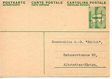 Suiza Entero postal circulado años 1950 (DE-749)