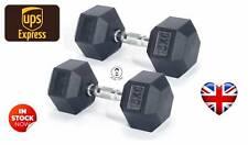 Men's Health Gomma Manubri Pesi Set - 2 x 15kg (30kg) SPEDIZIONE VELOCE!!!