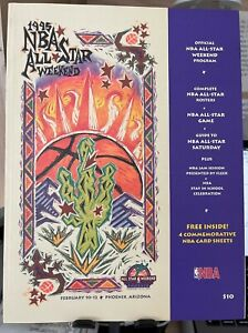 1995 NBA BASKETBALL ALL-STAR GAME PROGRAM - OLAJUWON - SHAQUILLE ONEAL