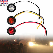 6Pcs 12V Car Truck Lorry Round LED Bullet Button Rear Side Marker Lights Lamp UK