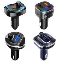 ORIA FM Transmitter Bluetooth Wireless Car USB Charger Handsfree Kit Mp3 Player