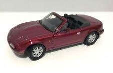 Mazda MX5 Dark Red, 1/24 Scale G GLB Diecast Model Car