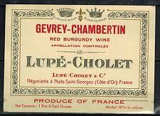 Etiquette de Vin - Gevrey Chambertin- Red Burgondy Wine - Lupé-Cholet-Réf.n°73