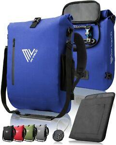 MIVELO Fahrradtasche Rucksack Gepäckträgertasche Laptopfach wasserdicht blau