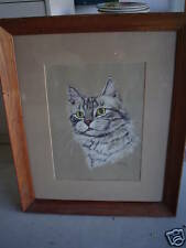 BIG Vintage Print of Cat by Gladys Emerson Cook LOOK