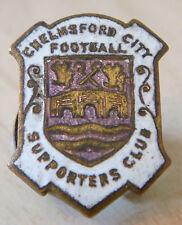 Chelmsford ciudad vintage insignia del club de seguidores Maker Thomas Fattorini Ojal